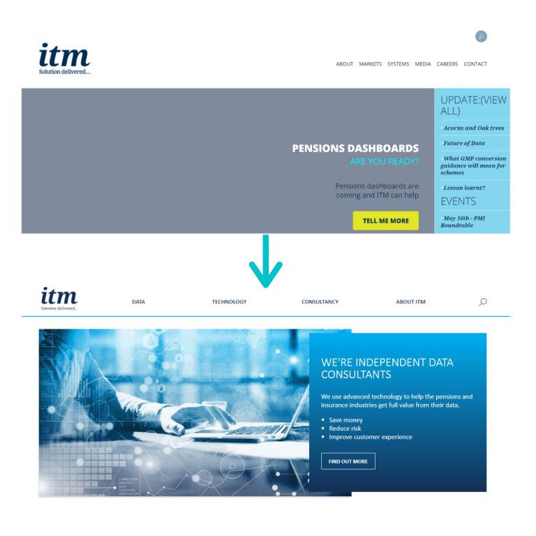 ITM website header